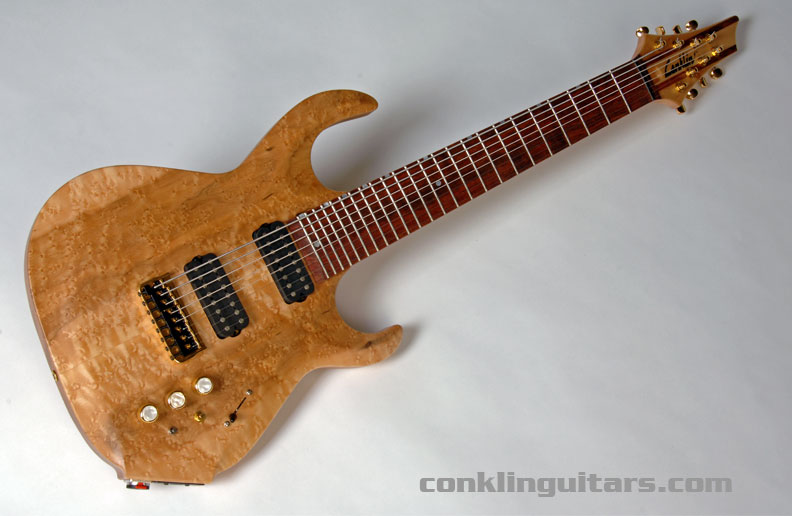 This Birdseye Maple top is loaded with figure and some natural coloration which is characteristic of the wood